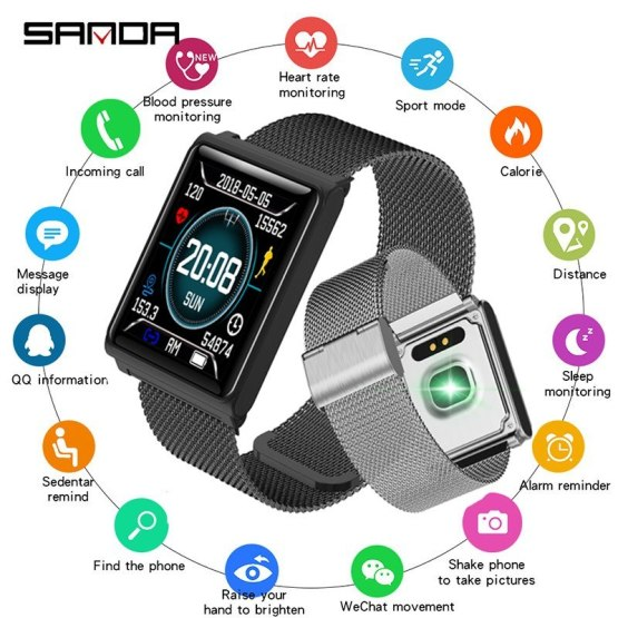SANDA Full Touch Screen Smartwatch Bluetooth for Android iPhone