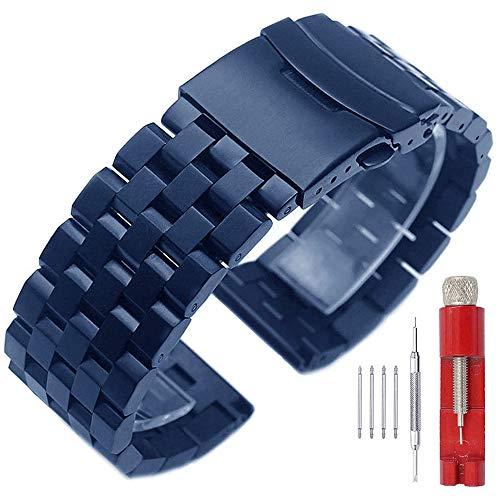 Dark Blue Stainless Steel 20mm Watch Band Metal Strap Watch Bands