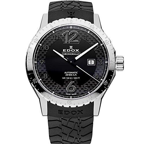 Edox Men's 80094 3 NN Chronorally 1 Analog Display Swiss Automatic Black Watch