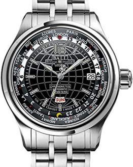 Ball Trainmaster Worldtime Automatic Mens Watch Black Dial Calendar GM1020D-S1CAJ-BK