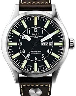 Ball Gents-Wristwatch Engineer Master II Aviator Date Weekday Analog Automatic NM1080C-L13-BK