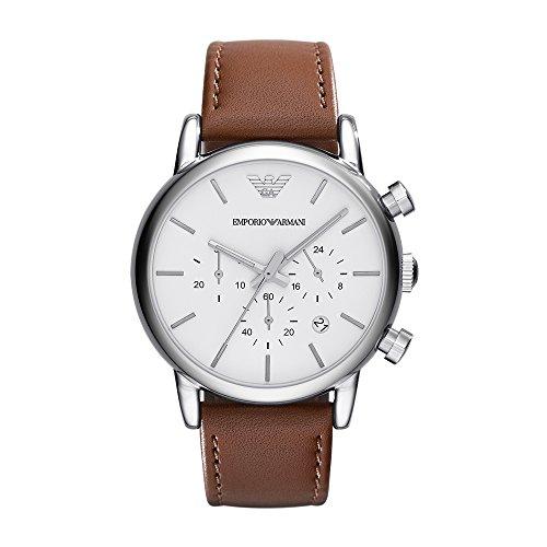 Emporio Armani Men's AR1846 Dress Brown Leather Watch
