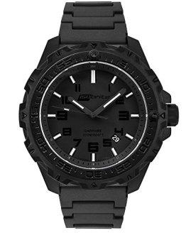 Isobrite ISO212 Eclipse Watch Green & Orange T100 Tritium Black Polyurethane Band