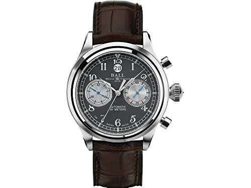Ball Steel Case Anti Reflective Sapphire Automatic Grey Dial Chronograph Watch CM1052D-L2J-GY