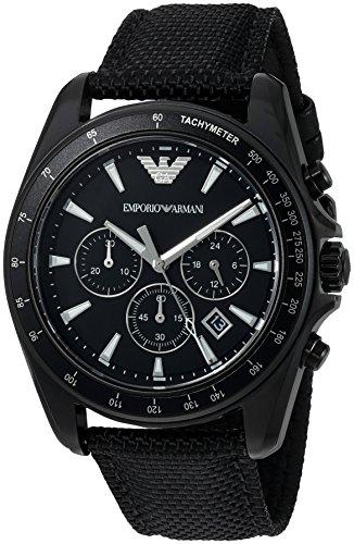 Emporio Armani Men's AR6131 Sport Black Nylon Quartz Watch