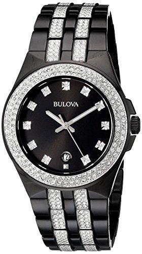 Bulova Men's 98B251 Swarovski Crystal Stainless Steel Watch
