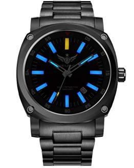 YELANG v3.3 Plus Super Bright Tritium Gas Blue Luminous Sapphire Glass Titanium Alloy Strap and Case Men Automatic Mechanical Watch
