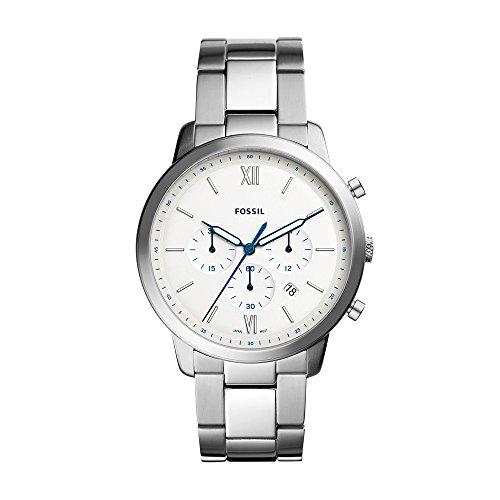Fossil Men's Neutra Chrono Analog-Quartz Watch with Stainless-Steel Strap, Silver, 22 (Model: FS5433)