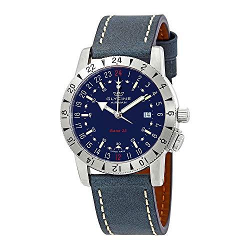 Glycine Airman Base 22 Purist Automatic Blue Dial Men's Watch GL0204