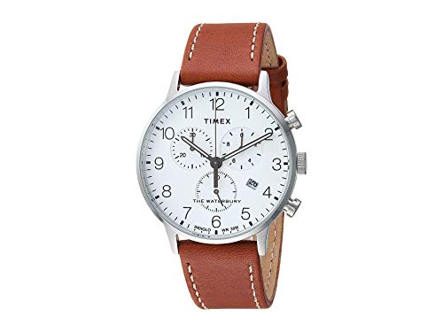 Timex Men's Waterbury Traditional Day Date Tan/White One Size
