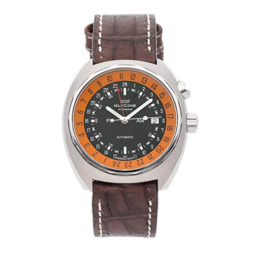 Glycine Airman Mechanical (Automatic) Black Dial Mens Watch GL0146 (Certified Pre-Owned)