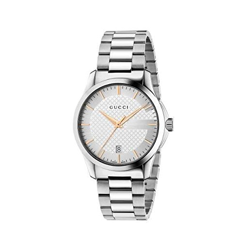 Gucci G-Timeless Silver Dial Stainless Steel Quartz Male Watch YA126442