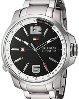 Tommy Hilfiger Men's 1791222 Cool Sport Analog Display Japanese Quartz Silver Watch