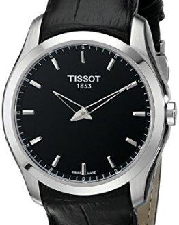 Tissot Men's Couturier Analog Display Swiss Quartz Black Watch
