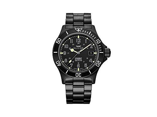 Glycine Combat Sub Automatic Watch, GL 224, PVD, Black, 42mm, GL0079