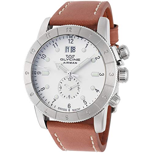 Glycine Airman 42 Automatic Brown Leather Mens Watch GL0149