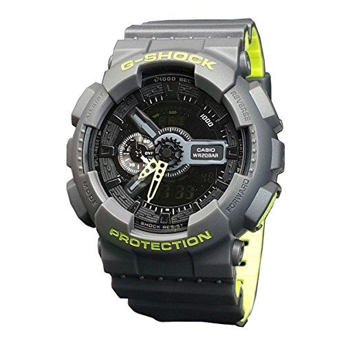 Casio Men's G Shock GA110LN-8A Grey Rubber Quartz Sport Watch