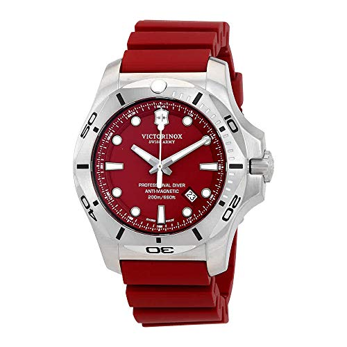 Victorinox V241735 INOX Men's Watches, Red/Red, 45mm
