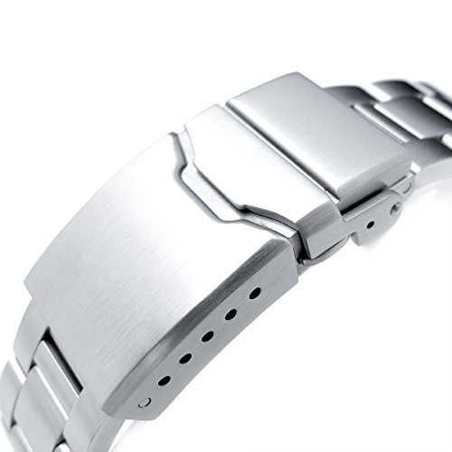 22mm Super Oyster Watch Band for SEIKO Diver SKX007 SKX009, Brushed, Button Chamfer 22mm Super Oyster Watch Band for SEIKO Diver SKX007 SKX009, Brushed, Button Chamfer