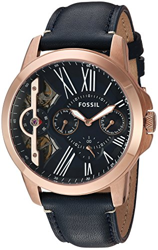 Fossil Mens ME1162 Grant Twist Three-Hand Blue Leather Watch