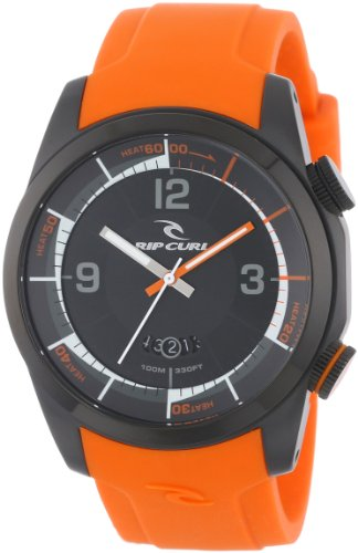 """Rip Curl Men's A2624 - ORA """"Launch"""" Sport Watch with Orange Silicone Band"""