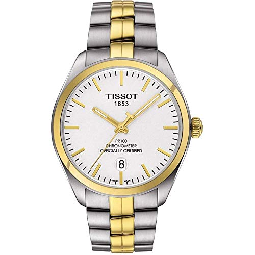 Tissot Silver Dial Two Tone Stainless Steel Mens Watch