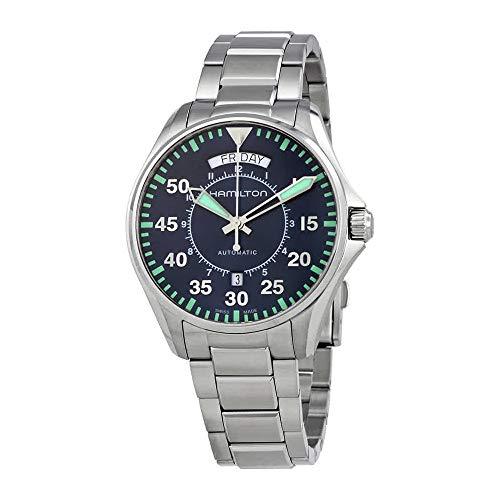 Men's Hamilton Khaki Aviation Pilot Day Date Auto Watch H64615145