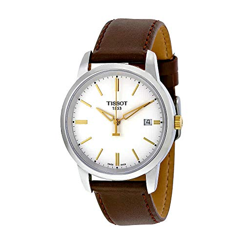 Tissot Men's T-Classic Stainless Steel Watch With Brown Leather Band