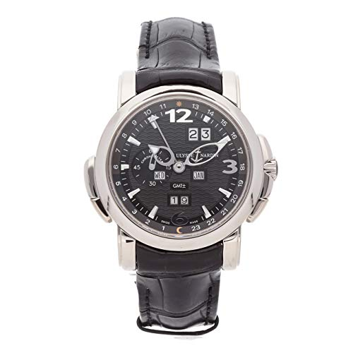 Ulysse Nardin GMT Perpetual Mechanical (Automatic) Black Dial Mens Watch 320-60/62 (Certified Pre-Owned)