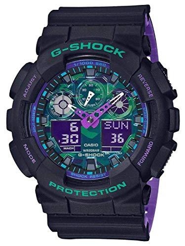 Casio G-Shock GA100BL-1A Black and Purple Resin Watch
