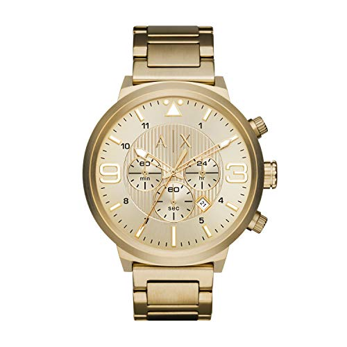 A|X Men's Gold Tone Stainless Steel Watch