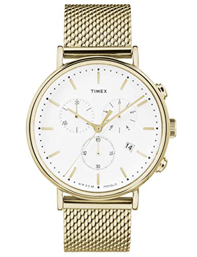 Timex Fairfield Chronograph Gold Tone Mesh Men Watch