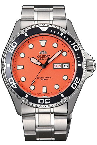 Orient Ray Raven II Automatic Orange Dial Mens Watch FAA02006M9