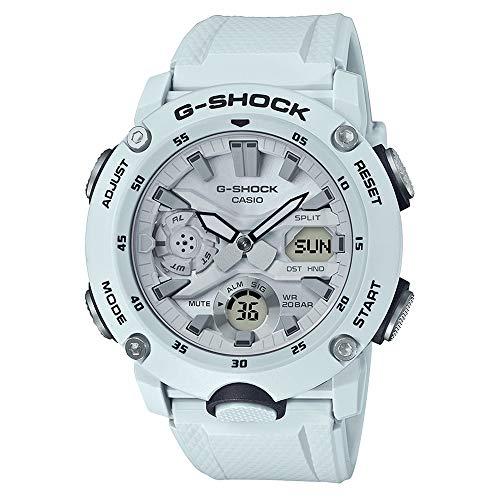 G-Shock Men's GA2000S Carbon Core Guard Analog-Digital Watch (One Size, White (7A))