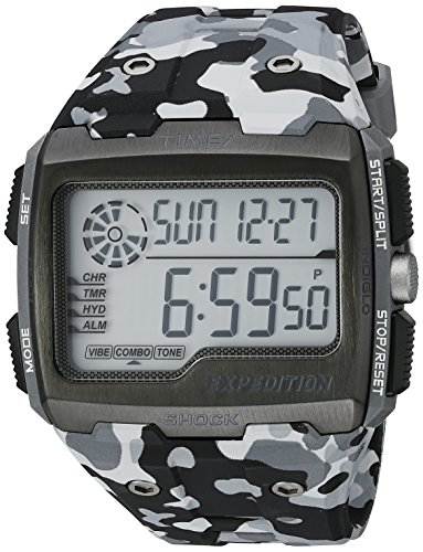 Timex Men's Grid Shock | Chronograph Hydration Gray Camoflauge Watch