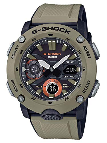Men's Casio G-Shock Carbon Core Guard Beige Resin Band Watch GA2000-5A