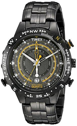 Timex Men's Grey Stainless Steel Intelligent Quartz Tide Temperature