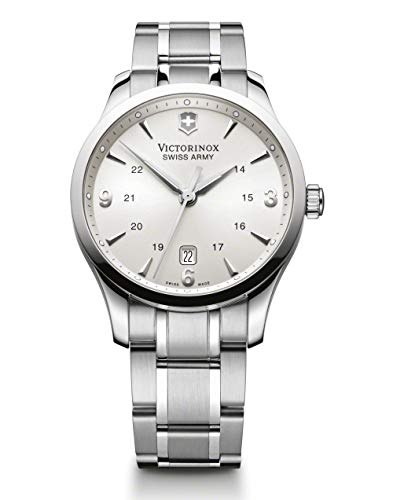 Victorinox Alliance Silver Dial Stainless Steel Mens Watch 241476XG (Renewed)