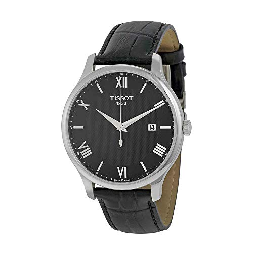 Tissot Men's 'Tradition' Swiss Quartz Stainless Steel and Leather Dress Watch