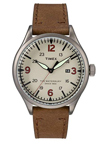 TIMEX - Waterbury Traditional Men Leather Brown Watch - TW2R38600
