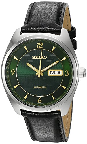 Seiko Men's 'Recraft Series' Japanese Automatic Stainless Steel and Black Leather Dress Watch (Model: SNKN69)
