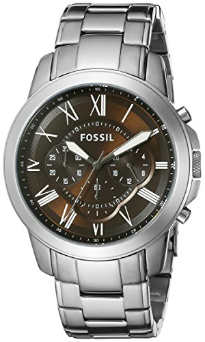 Fossil Men's FS5090 Grant Chronograph Stainless Steel Watch