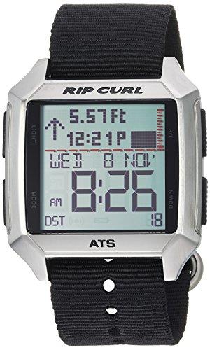 Rip Curl Men's Stainless Steel Quartz Sport Watch with Polyurethane Strap, Black, 24 (Model: A1135BLK1SZ)
