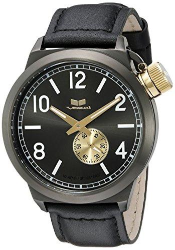 Vestal Unisex CTN3L14 Canteen Leather Analog Display Quartz Black Watch