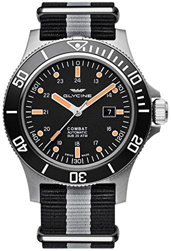 Glycine Combat SUB Automatic Black Dial Men's Watch GL0097