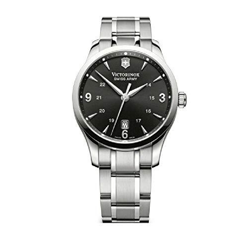 Victorinox Alliance Black Dial Stainless Steel Mens Watch 241473XG (Renewed)