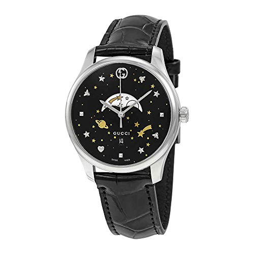 Gucci G-Timeless Black Motifs Dial Mens Watch YA126327