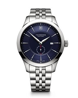 Victorinox Men's Alliance Swiss-Quartz Watch with Stainless-Steel Strap, Silver, 21 (Model: 241763)