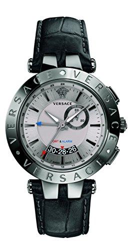 Versace Men's 29G98D535 S009 V-Race GMT Alarm Analog Display Quartz Black Watch