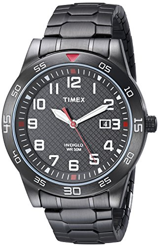 Timex Men's Fieldstone Way Black Stainless Steel Expansion Band Watch